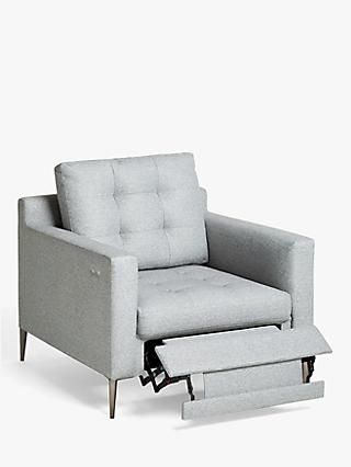 John Lewis & Partners Draper Motion Armchair with Footrest Mechanism, Metal Leg