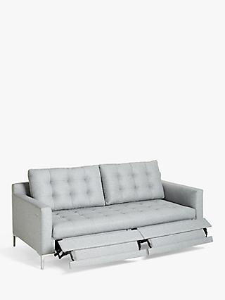 John Lewis & Partners Draper Motion Large 3 Seater Sofa, Metal Leg