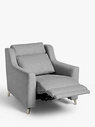John Lewis & Partners Elevate Power Recliner Armchair, Metal Leg