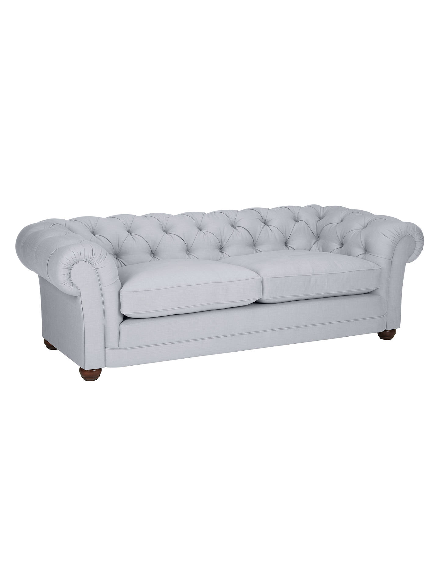 Buy John Lewis Stanford Large Semi-Aniline Leather Chesterfield Sofa, Hand Antiqued Online at johnlewis.com