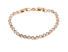 Cachet London Swarovski Crystal Tennis Bracelet, Rose gold
