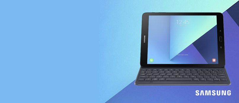 Half price keyboard cover with Samsung Galaxy Tab S3