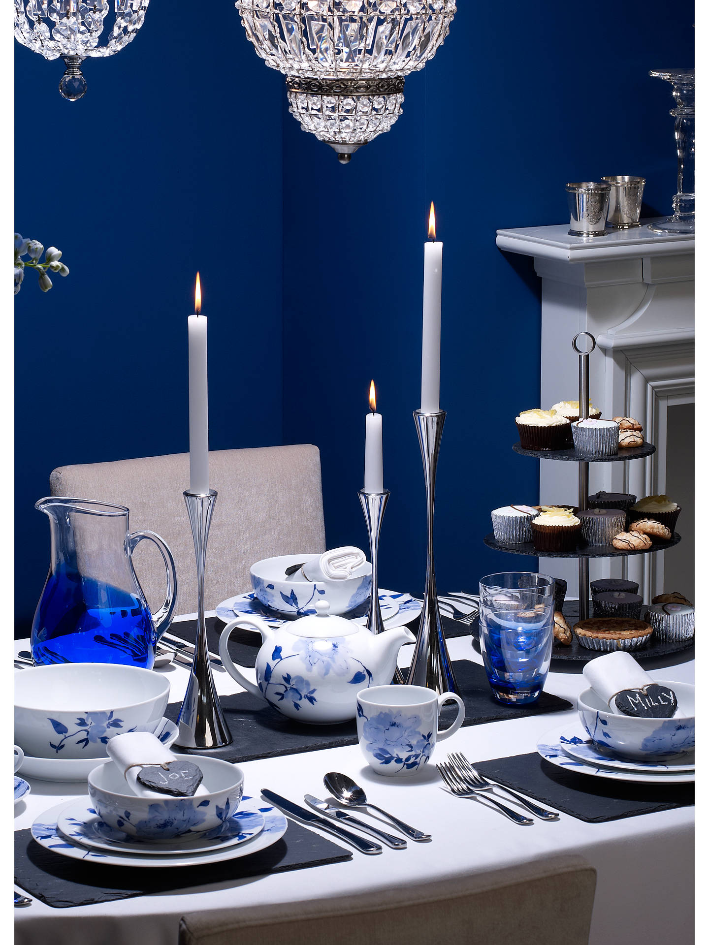 Buy Robert Welch Arden Candlestick, Tall Online at johnlewis.com