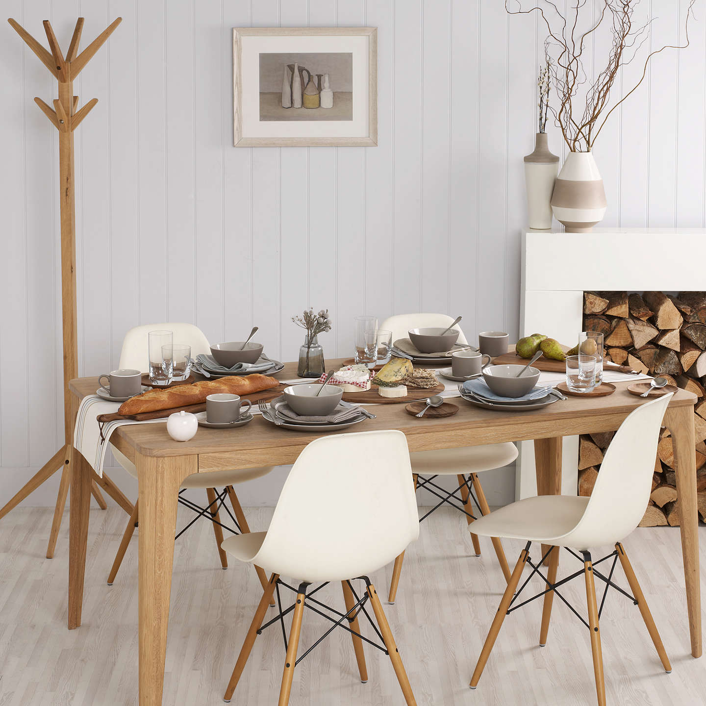 BuyEbbe Gehl For John Lewis Mira 6 Seater Dining Table Oak Online At Johnlewis