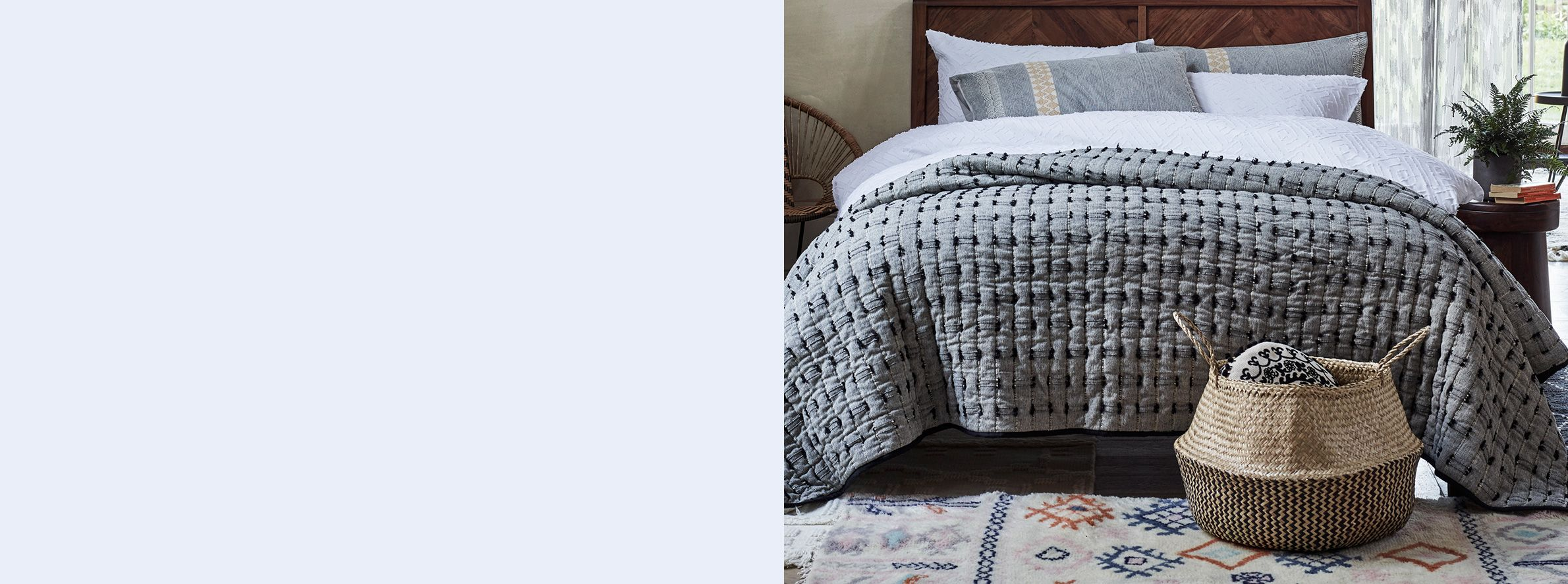 c63889d0c5 Make a warm, relaxing space with a selection of soft throws and blankets