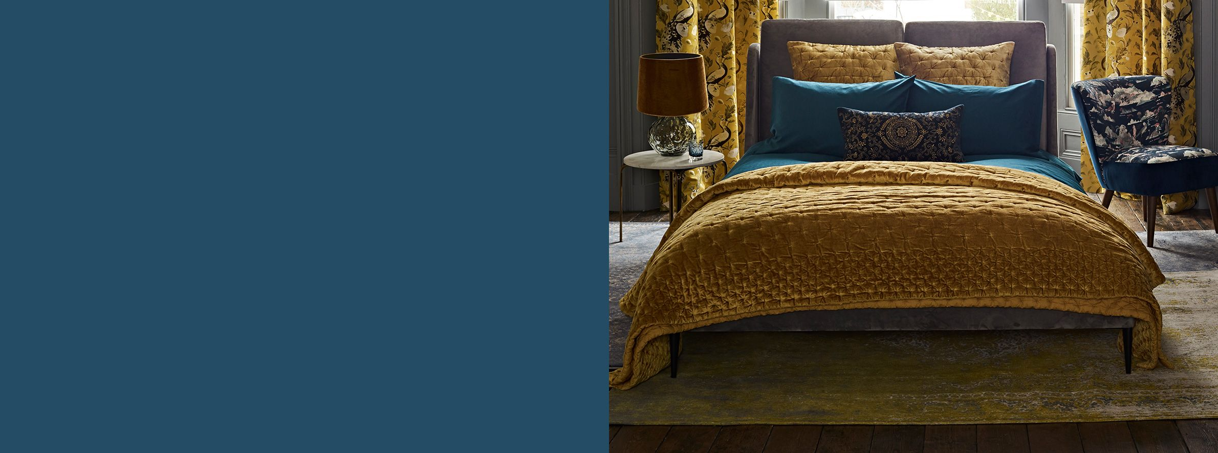 our collection of beautiful throws and cosy blankets add colour and texture to bedrooms - Throws Bedroom