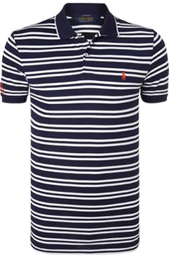Polo Golf by Ralph Lauren Pro Fit Stripe Polo Shirt, Navy/White