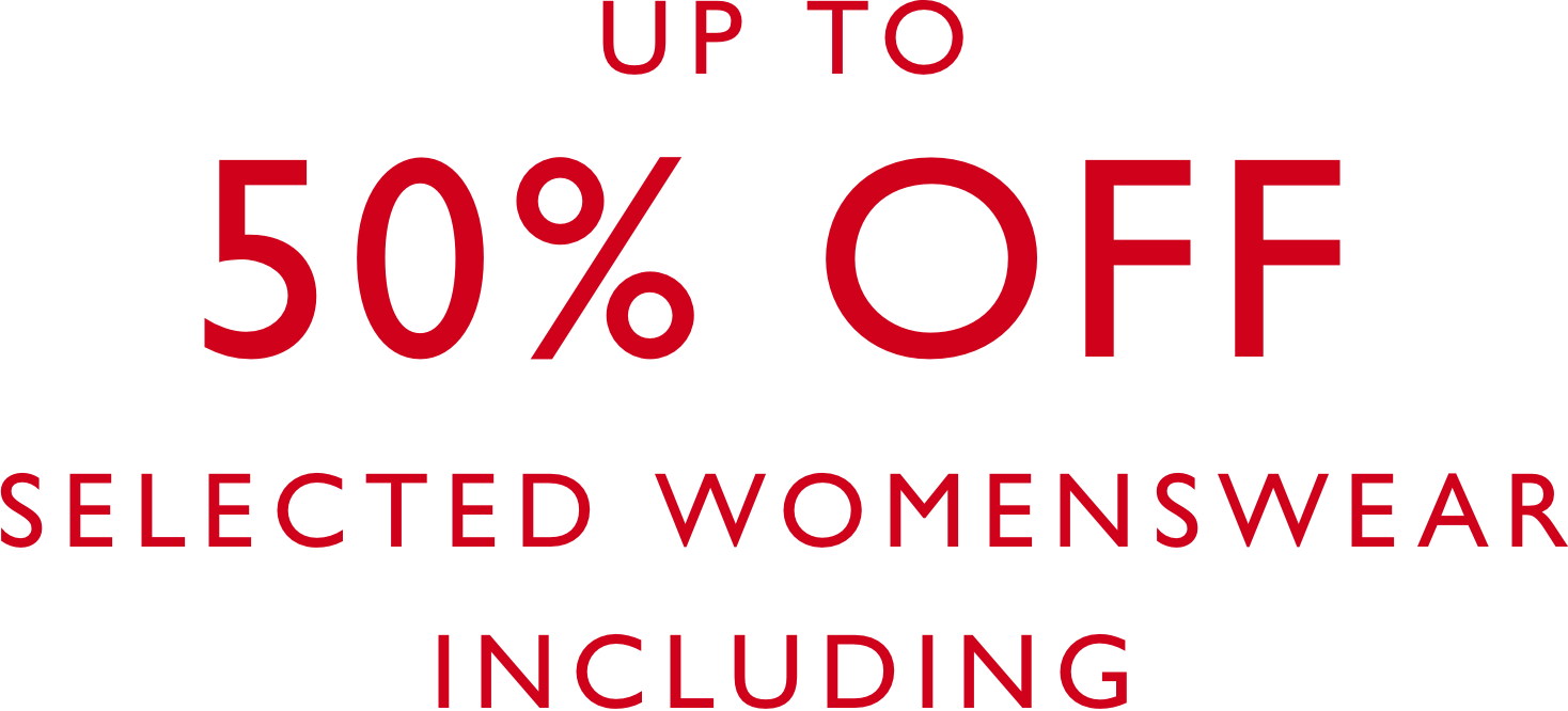 50 percent off selected womenswear