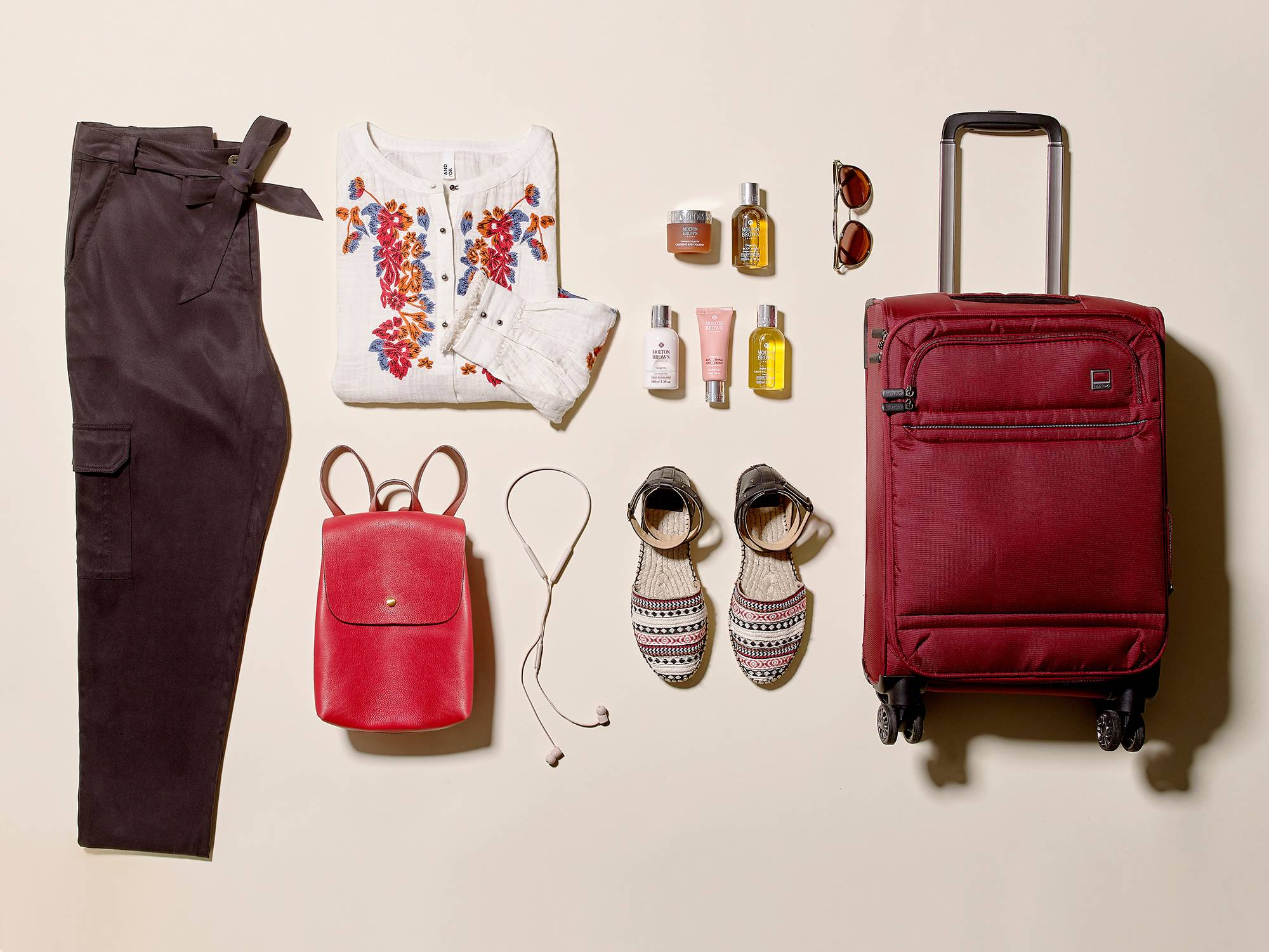 clothes to pack in a suitcase for a city break