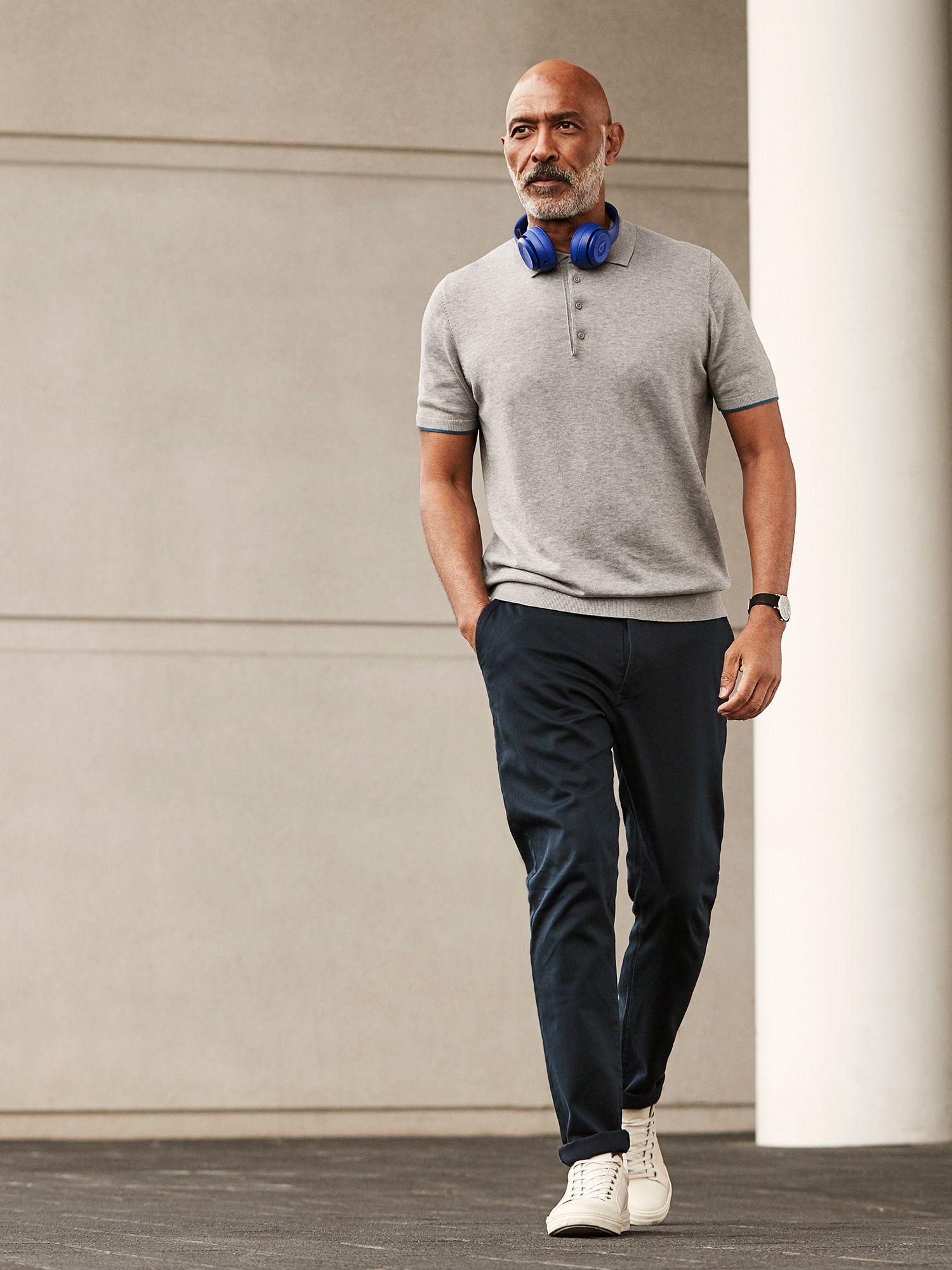 Grey men's polo shirt