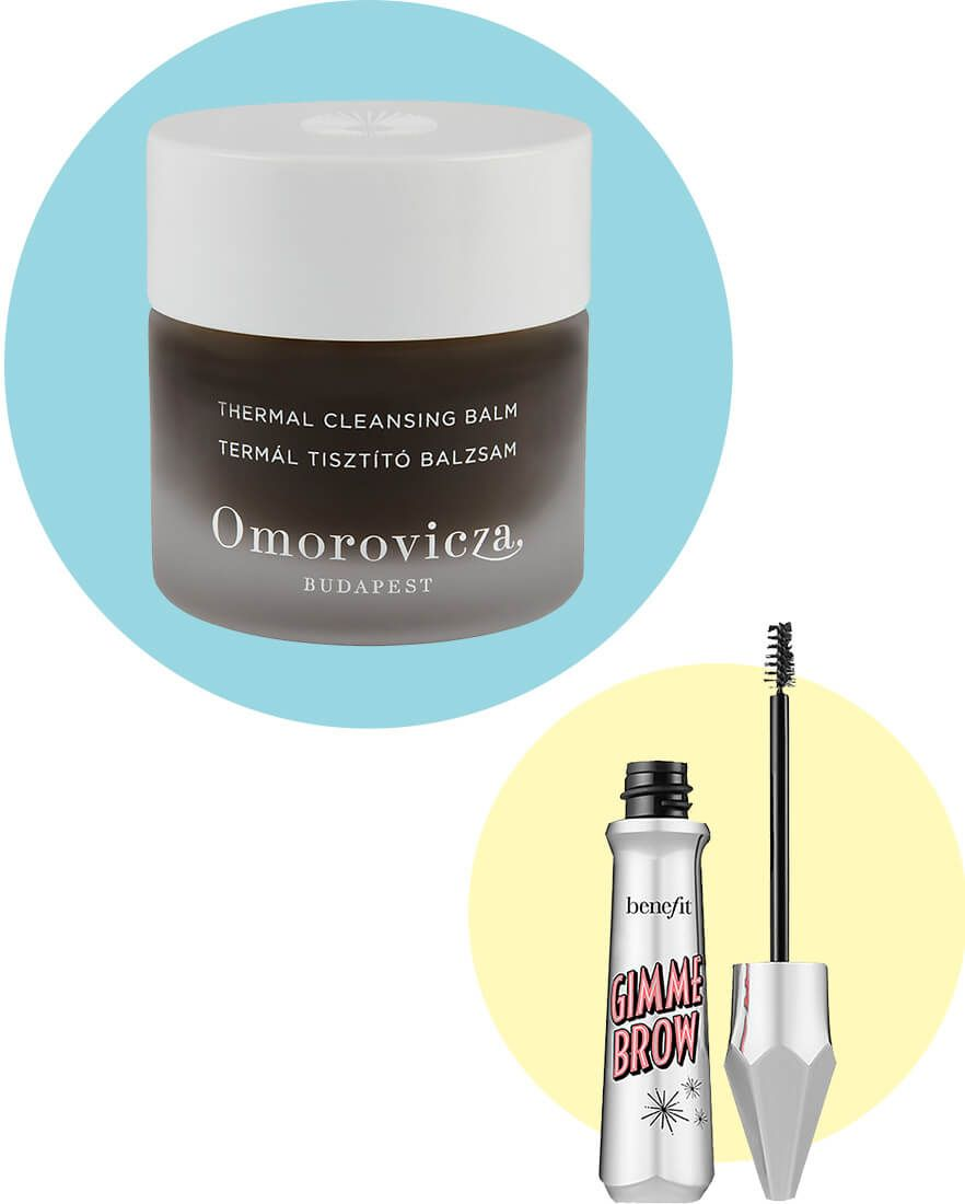 Omorovicza Thermal Cleansing Balm and Benefit Gimme Brow Volumising Brow Gel