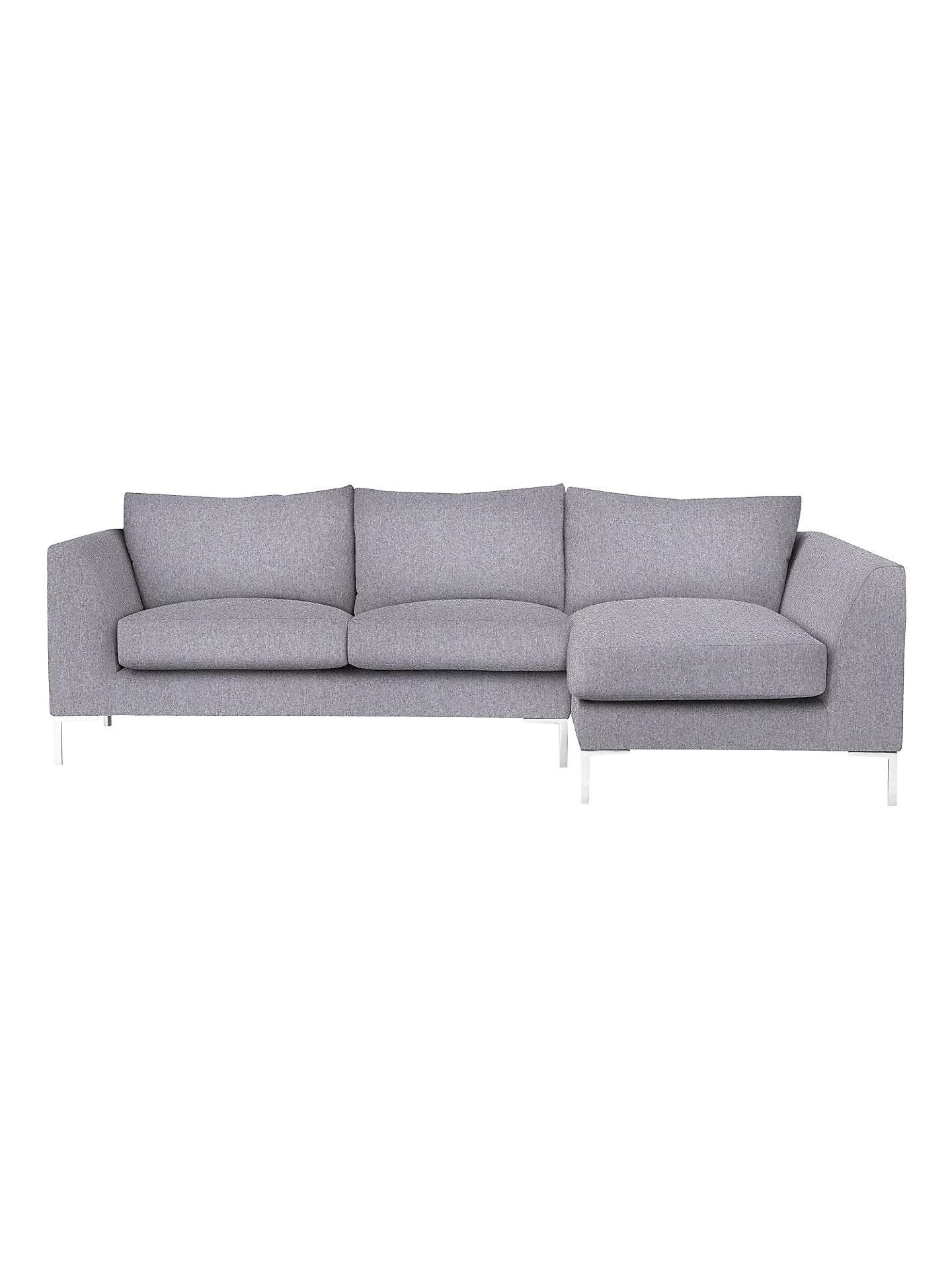Buy John Lewis & Partners Belgrave RHF Chaise End Sofa, Metal Leg Online at johnlewis.com