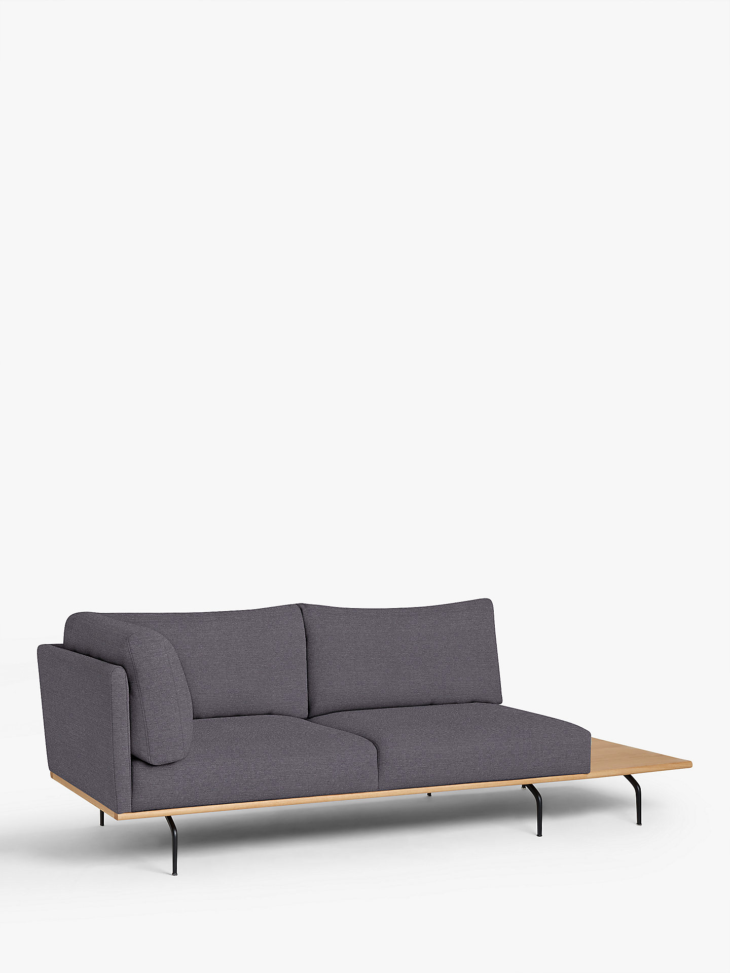 Buy John Lewis & Partners Platform Large 3 Seater Sofa with RHF Table Online at johnlewis.com