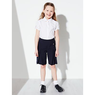 John Lewis Girls' Adjustable Waist School Culottes, Navy