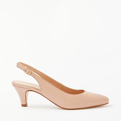 John Lewis Grace Kitten Heel Court Shoes, Nude