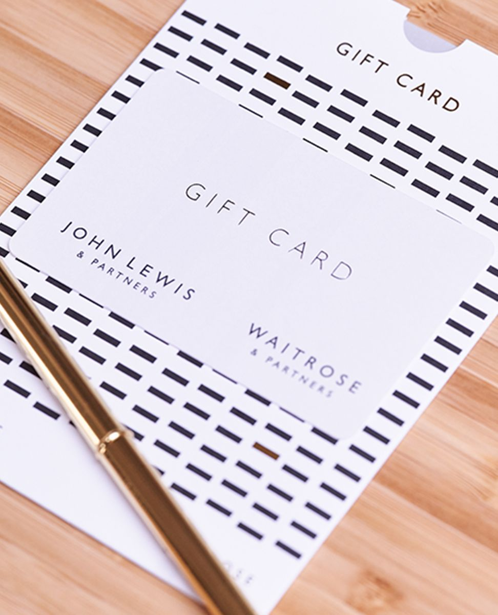 Close up photograph of Gift Card packaging