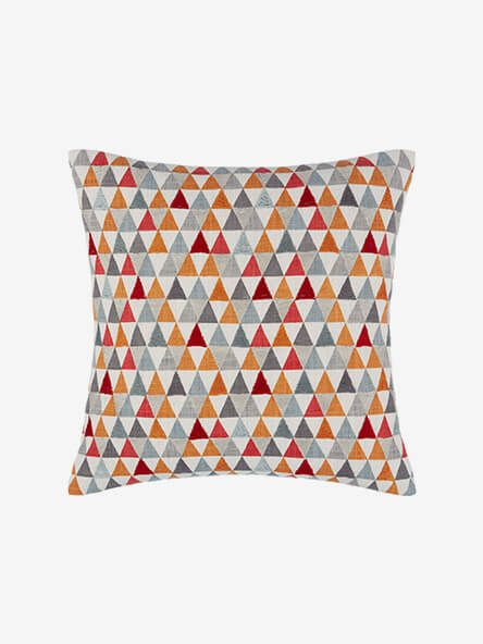 John Lewis & Partners Prism Cushion, Orange