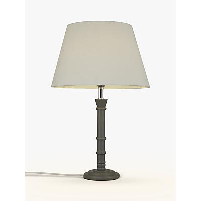 John Lewis Caitlin Stick Lamp Base, 38cm, Dark Grey