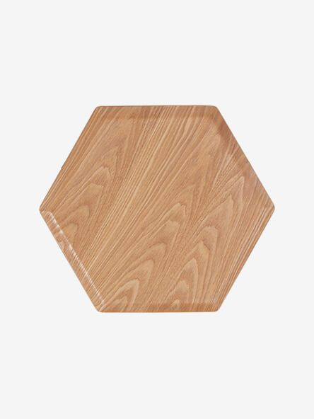 House by John Lewis Hexagonal Wood Tray