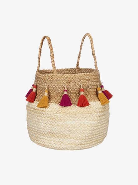 John Lewis & Partners Fusion Jute Storage Basket with Tassels