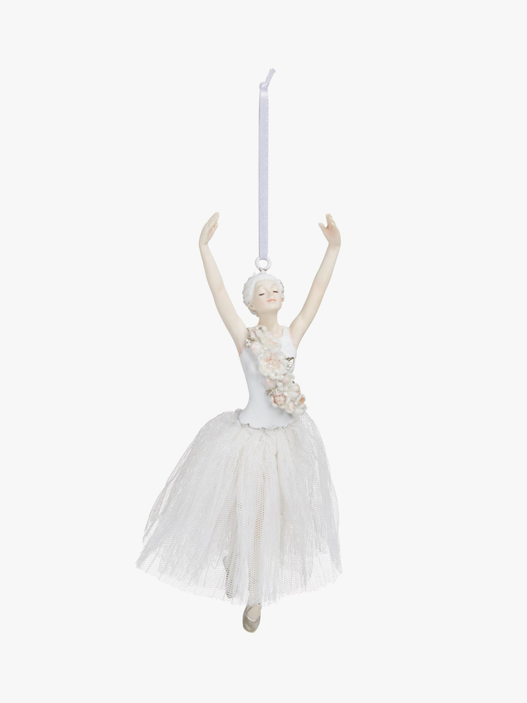 John Lewis & Partners Snowscape Ballerina Tree Decoration, White