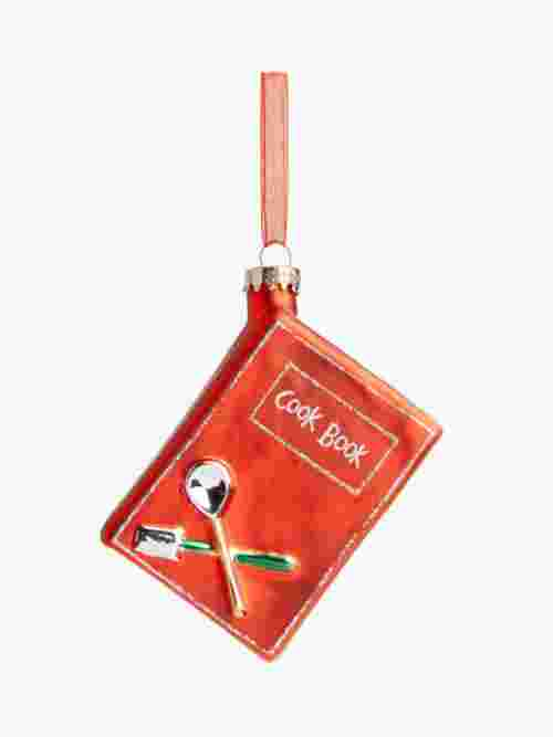 John Lewis & Partners Traditions Cookbook Bauble, Red
