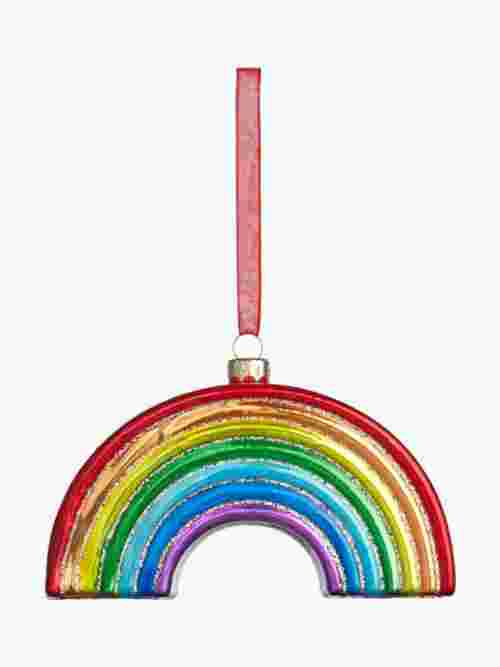 John Lewis & Partners ABC Glass Rainbow Bauble, Multi