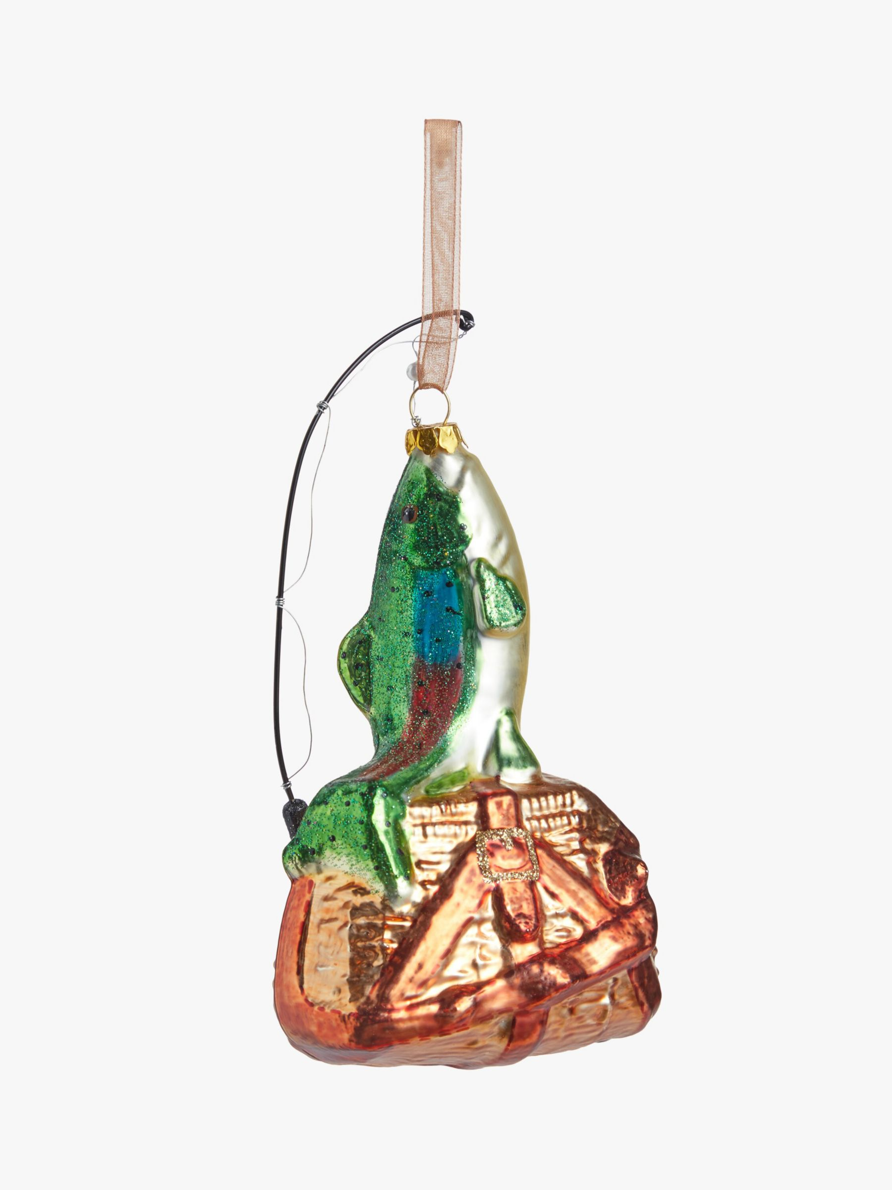 John Lewis & Partners Campfire Fish and Bag Bauble