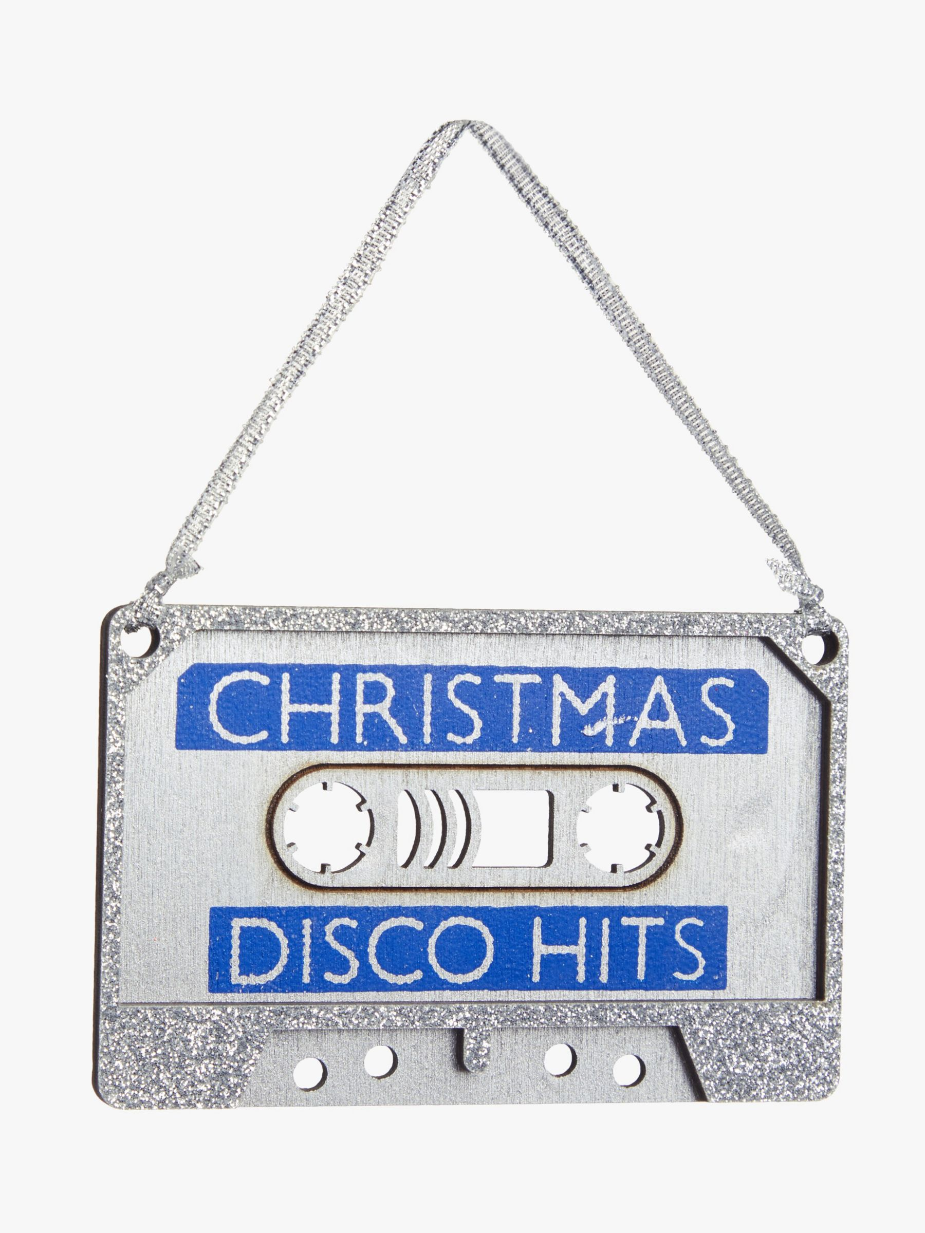 John Lewis & Partners Party Disco Cassette Tree Decoration