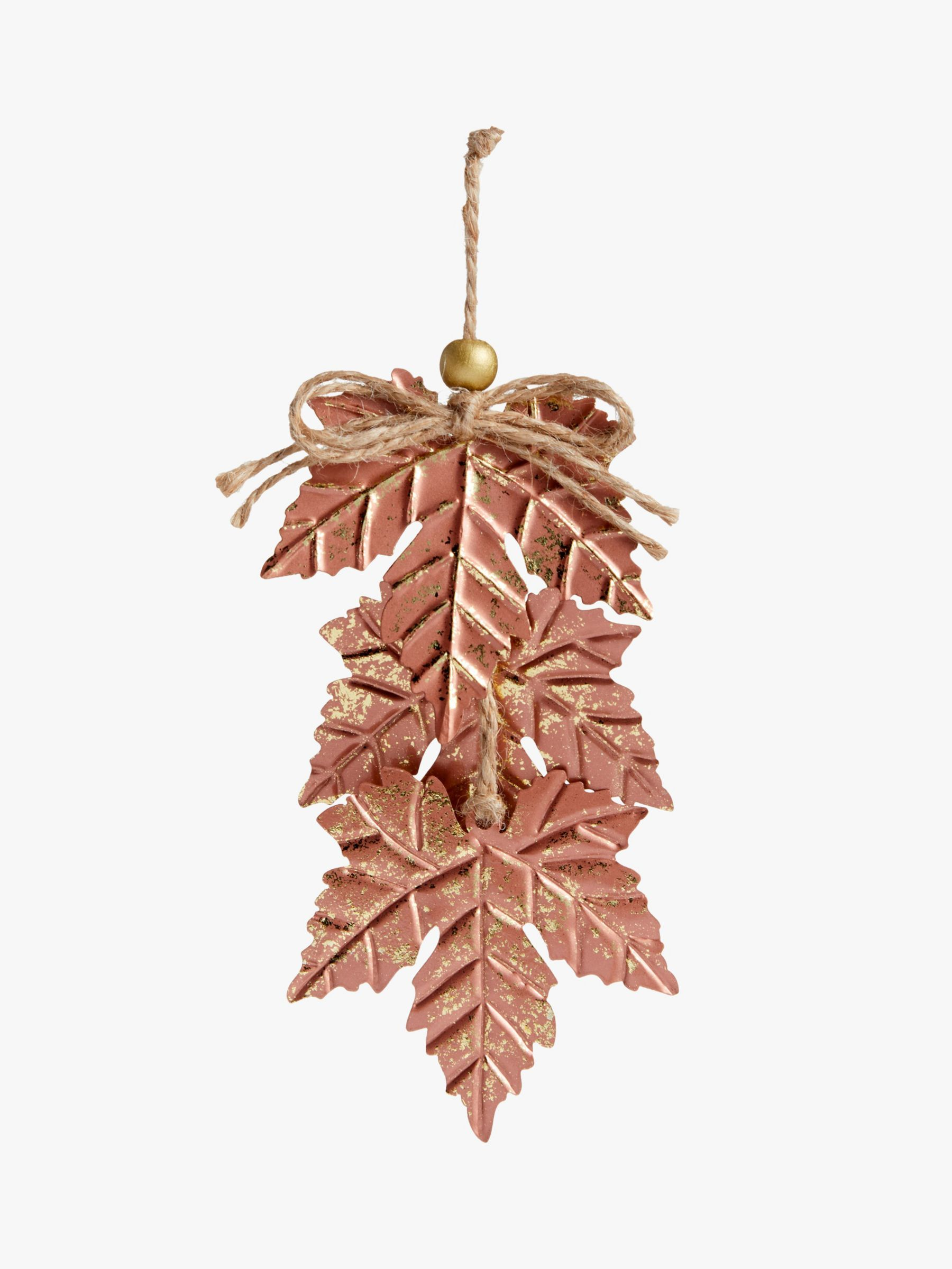 John Lewis & Partners Campfire Maple Leaves Tree Decoration