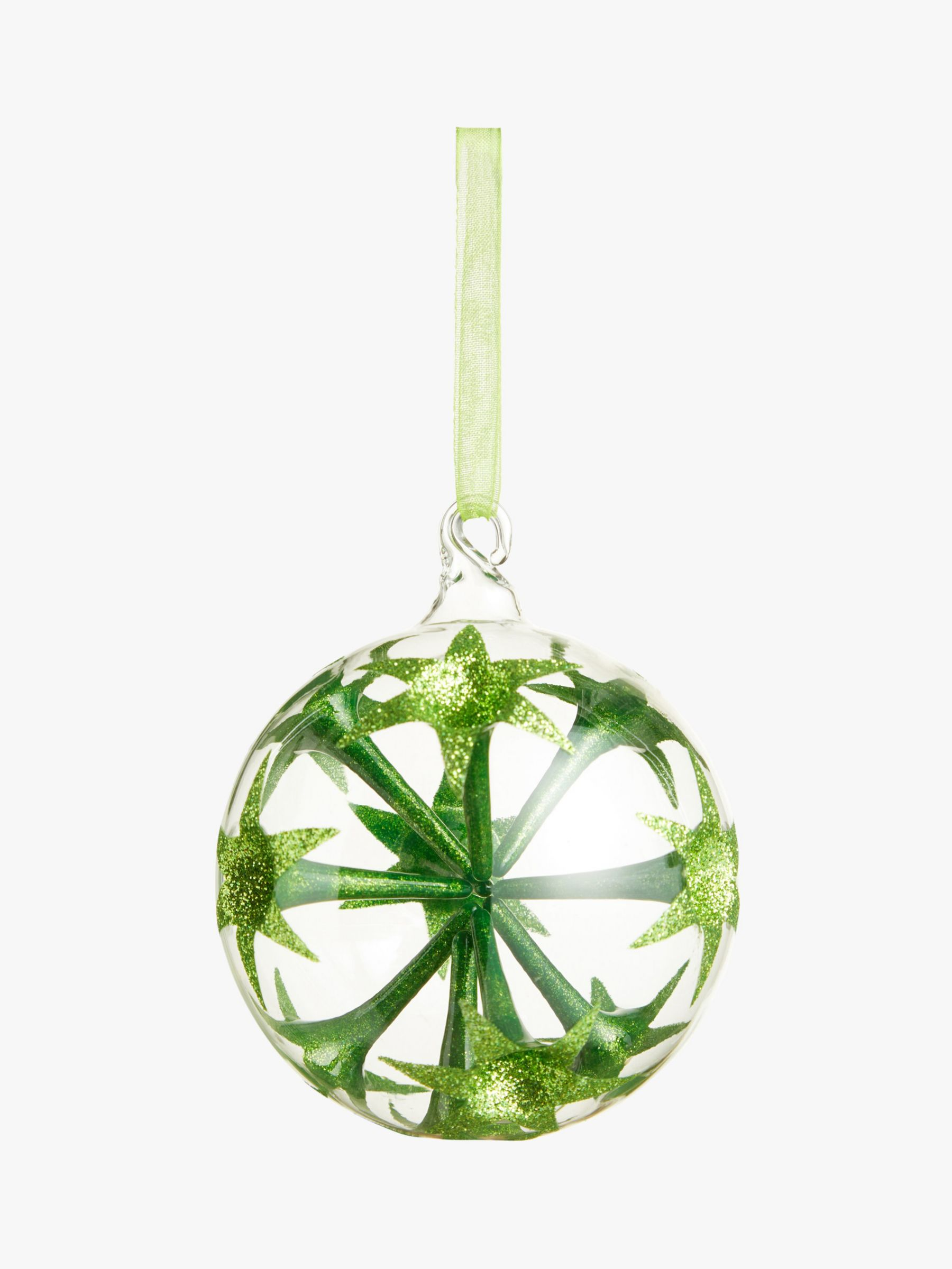 John Lewis & Partners Garden Retreat Sputnik Bauble, Green