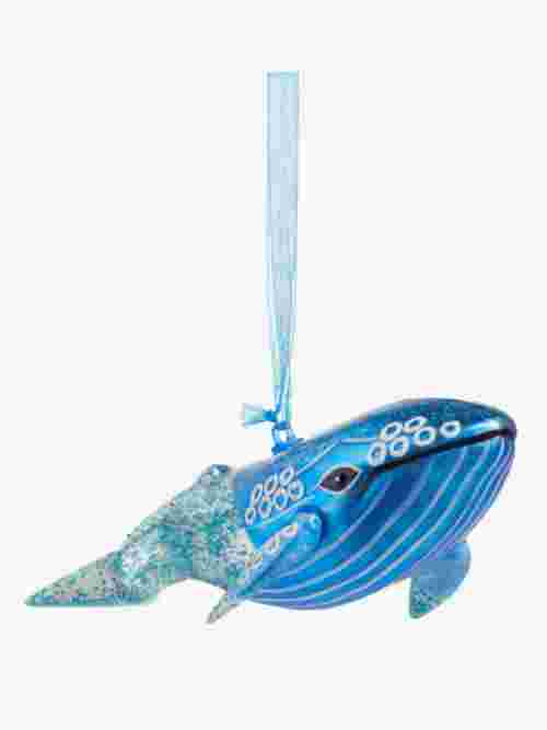 John Lewis & Partners ABC Glitter Whale Bauble, Blue