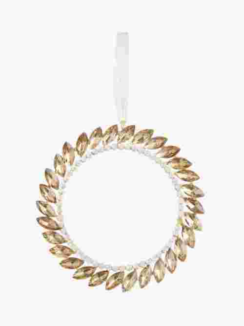 John Lewis & Partners Sanctuary Gem Wreath Tree Decoration, Gold