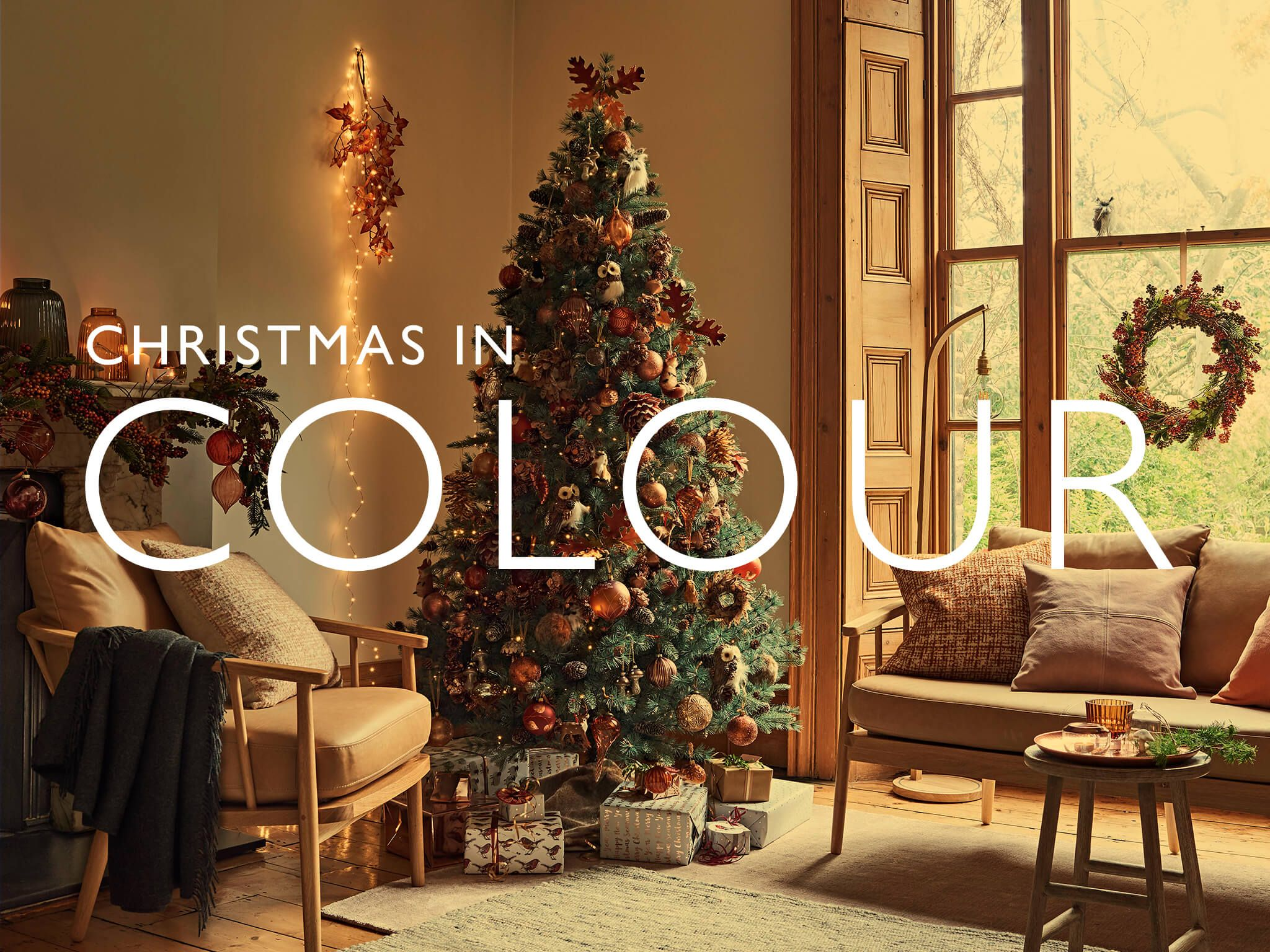 WELCOME CHRISTMAS INTO YOUR HOME WITH A JOYFUL CELEBRATION OF JEWEL-LIKE COLOUR. Decorating ...