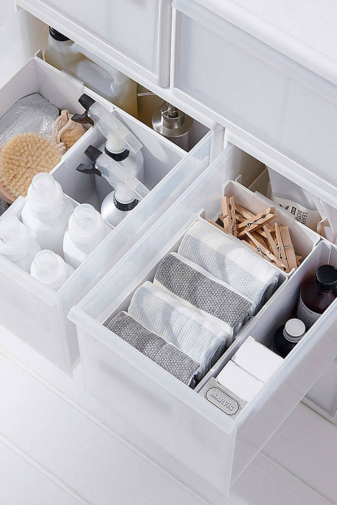Storage drawer tidy