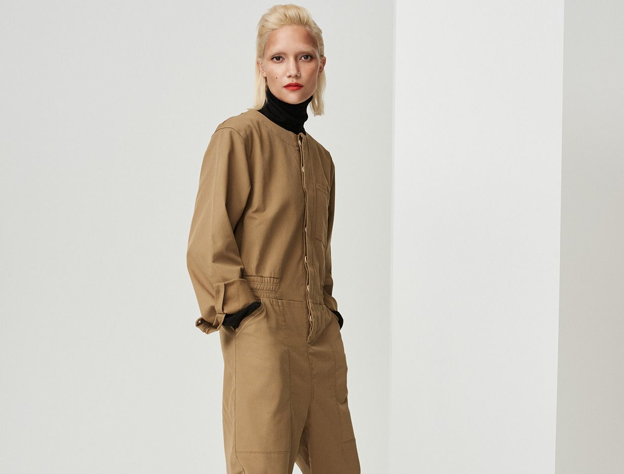 Boiler suit khaki  all-in-one