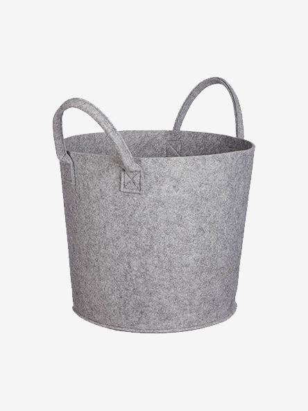 House by John Lewis Felt Storage Bucket, Grey