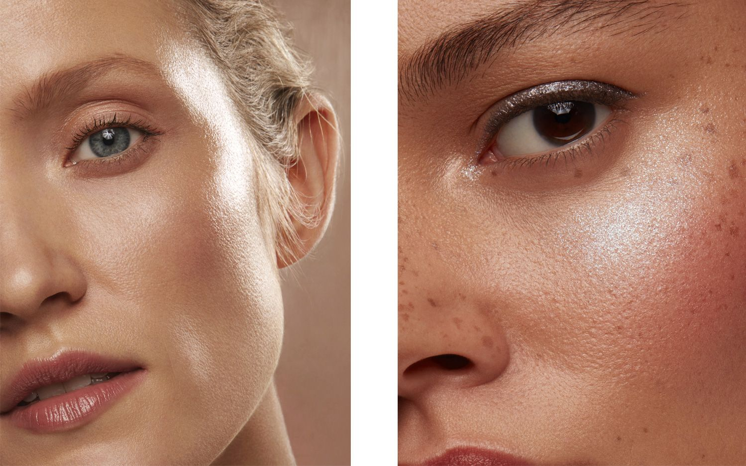 Models with glowing skin and Illuminating skin