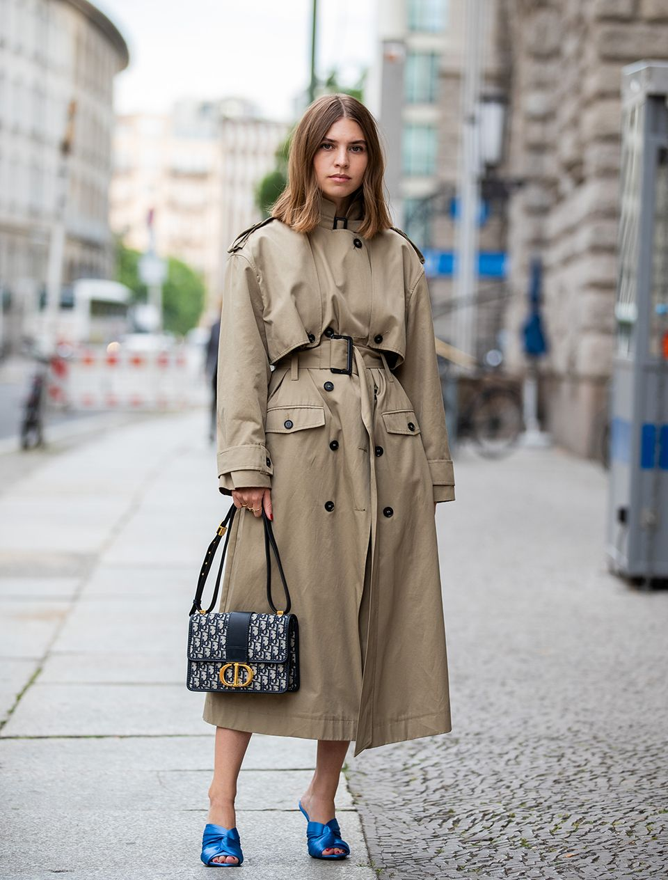 How to style a trench coat: wear it like a dress