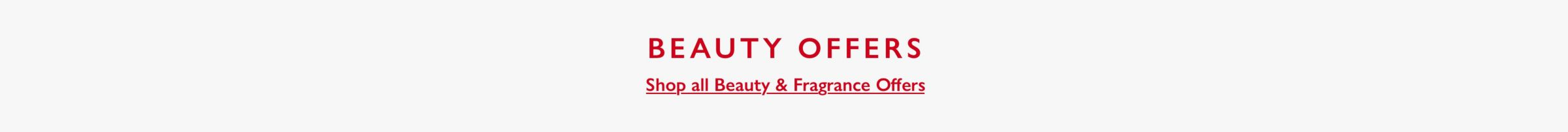 15 percent off beauty and fragrance banner