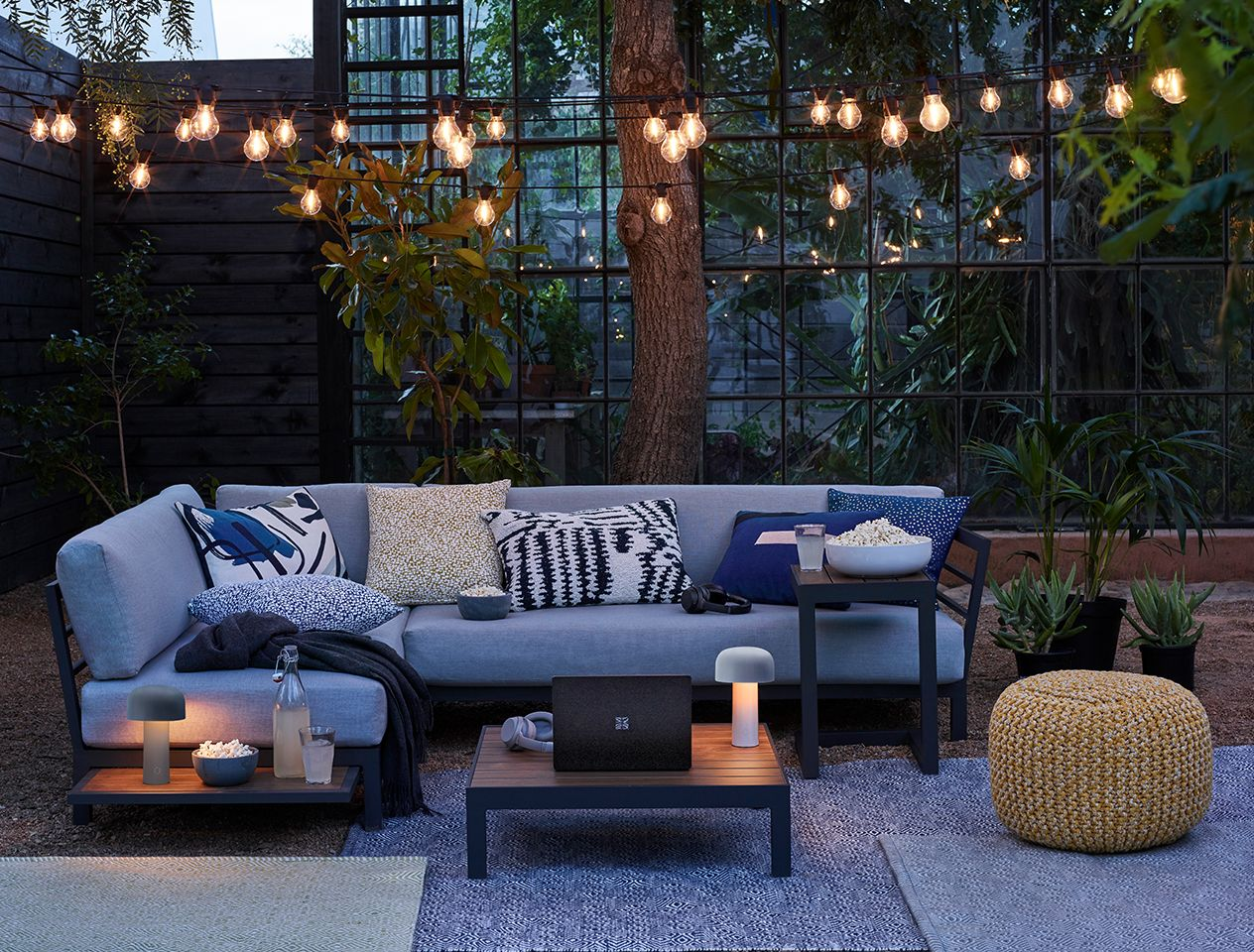 Bright outdoor living space
