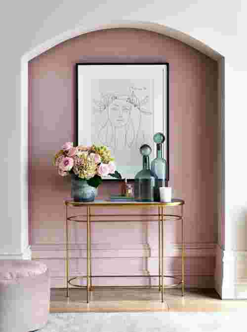 Pink feature wall