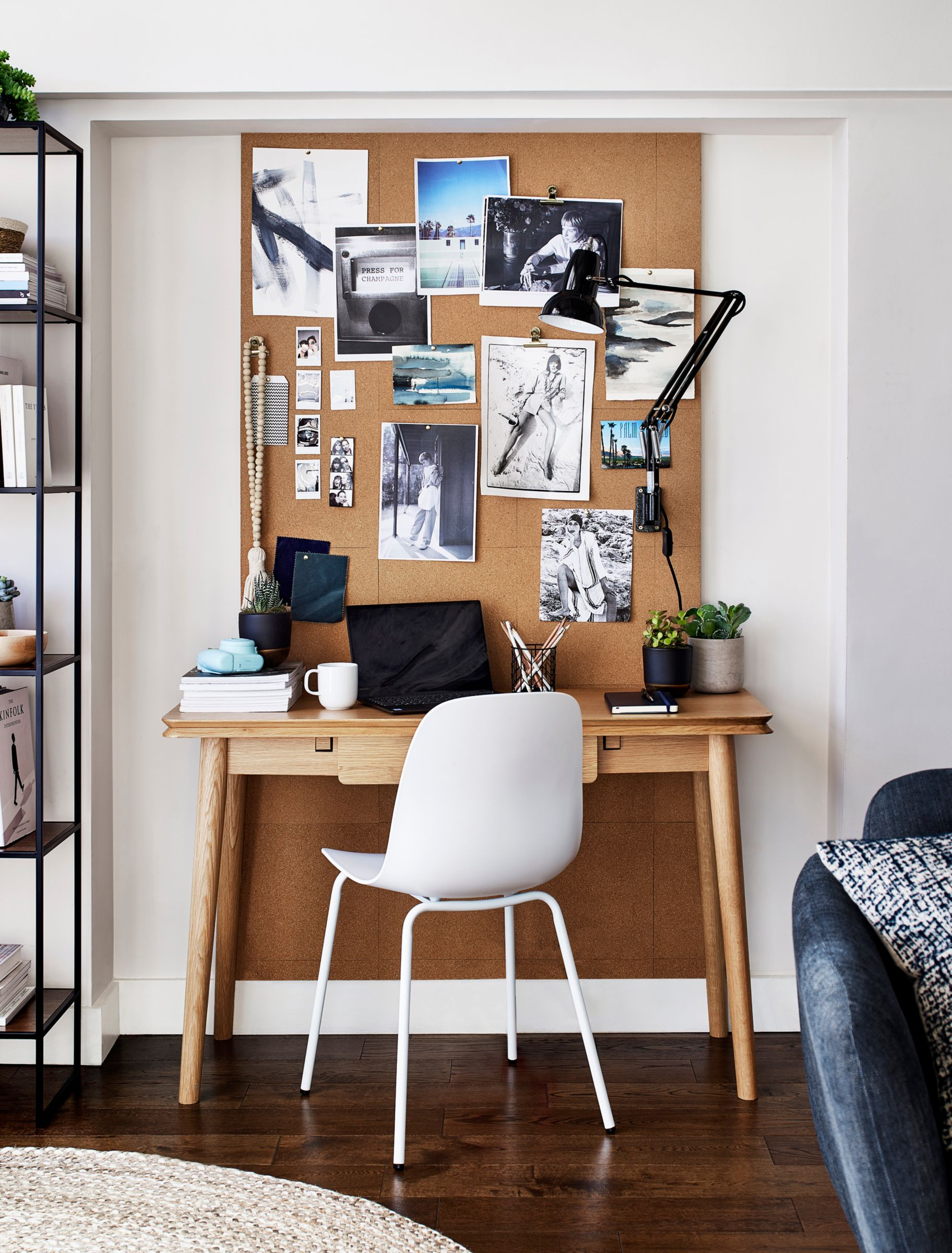 A desk in a home office