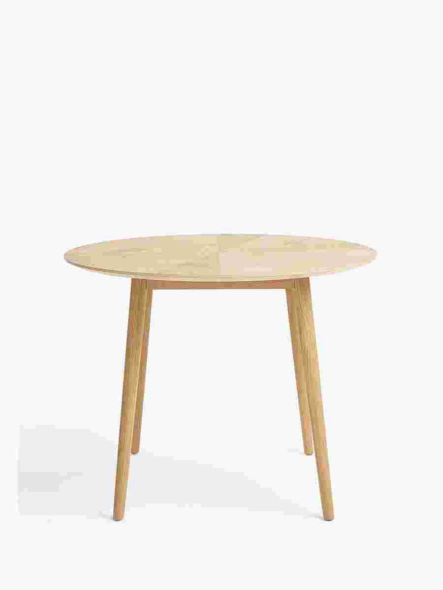 Croft Collection Iona 4 Seater Round Dining Table, Oak