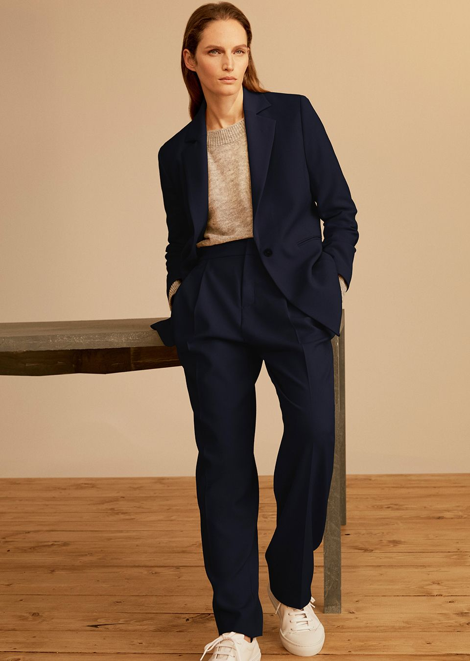 Woman in a relaxed suit