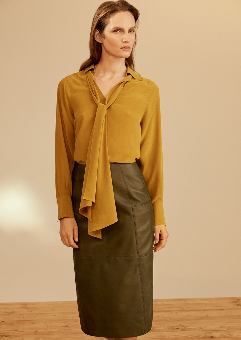 Woman in a luxe pencil skirt